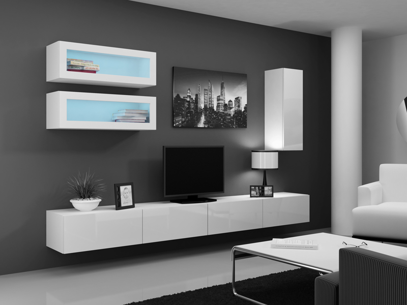 vigo 140 bia a szafka pod telewizor stolik rtv wieszany camameble. Black Bedroom Furniture Sets. Home Design Ideas